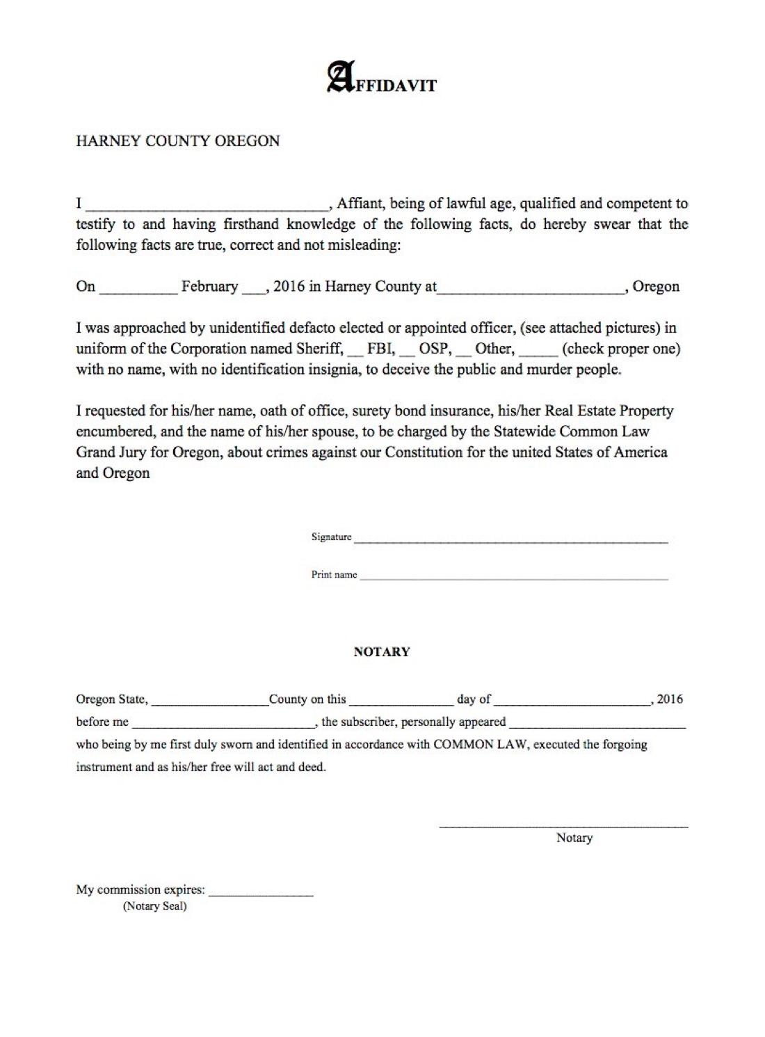 Statewide Common Law Grand Jury, Oregon/Florida/Nebraska